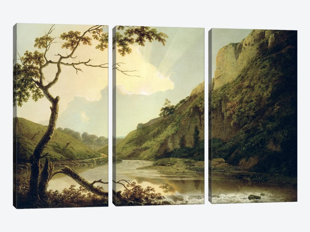 Matlock Tor, c.1778-80 by Joseph Wright of Derby 3-piece Canvas Artwork