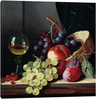 Grapes and plums  Canvas Art Print