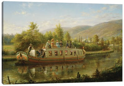Early Days of Rapid Transit,  Canvas Art Print