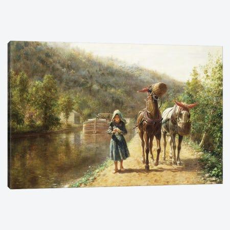 On the Towpath,  Canvas Print #BMN10119} by Edward Lamson Henry Canvas Art Print