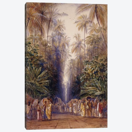 On the Road to Galle, Ceylon, 1876  Canvas Print #BMN10125} by Edward Lear Art Print