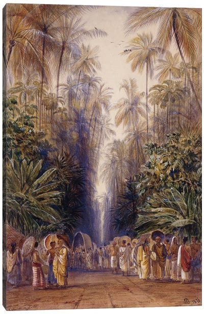 On the Road to Galle, Ceylon, 1876  Canvas Art Print