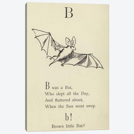 The letter B  Canvas Print #BMN10131} by Edward Lear Canvas Print