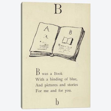 The letter B  Canvas Print #BMN10132} by Edward Lear Canvas Art Print