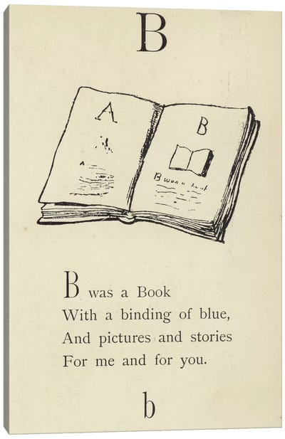 The letter B  Canvas Art Print
