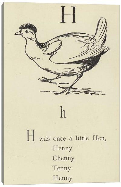 The letter H  Canvas Art Print
