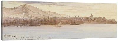 View of Genoa, 1864  Canvas Art Print