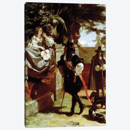 Charles II  and Nell Gwynne  Canvas Print #BMN10142} by Edward Matthew Ward Canvas Wall Art