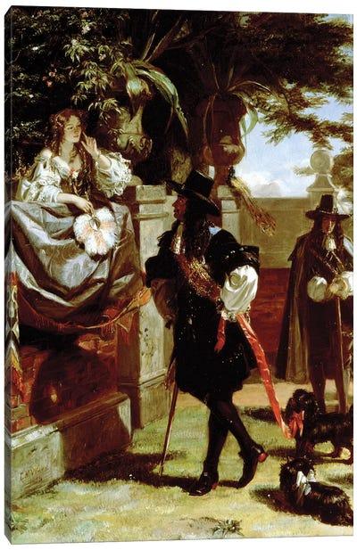 Charles II  and Nell Gwynne  Canvas Art Print