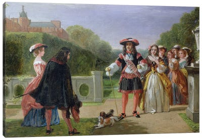 King Charles II  and Nell Gwynne   Canvas Art Print