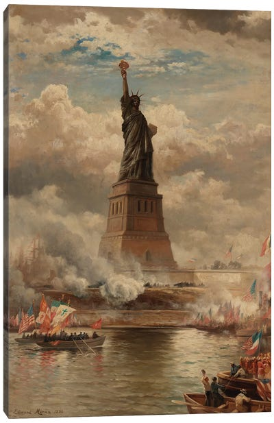 The Unveiling of the Statue of Liberty, Enlightening the World, 1886  Canvas Art Print