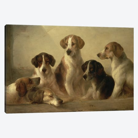 Hounds Canvas Print #BMN10147} by Edward Robert Smythe Canvas Art Print