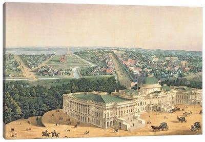 View of Washington, pub. by E. Sachse & Co., 1852  Canvas Art Print