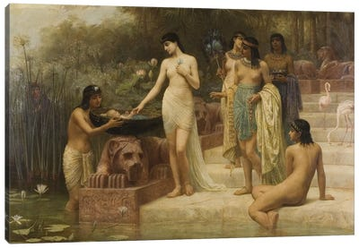 Pharaoh's Daughter - The Finding of Moses, 1886  Canvas Art Print