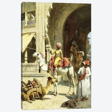 Indian Scene, 1884-89  Canvas Print #BMN10155} by Edwin Lord Weeks Canvas Wall Art