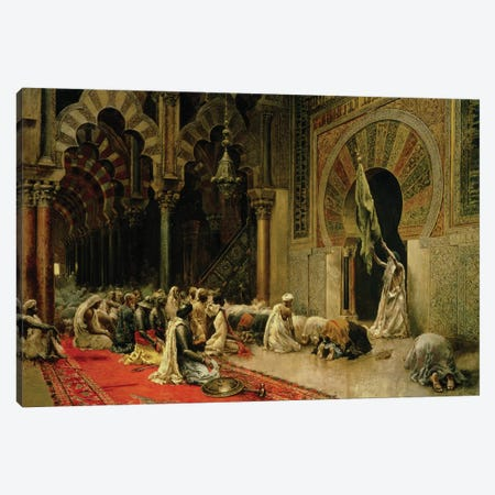 Interior of the Mosque at Cordoba, c.1880  Canvas Print #BMN10156} by Edwin Lord Weeks Canvas Wall Art