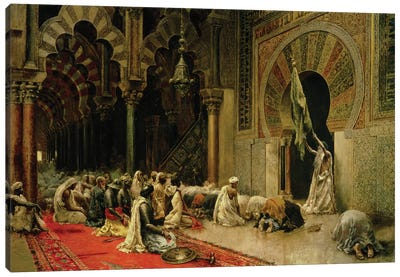 Interior of the Mosque at Cordoba, c.1880  Canvas Art Print