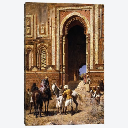 The Gateway of Alah-ou-din, Old Delhi, late 19th century  Canvas Print #BMN10157} by Edwin Lord Weeks Canvas Wall Art