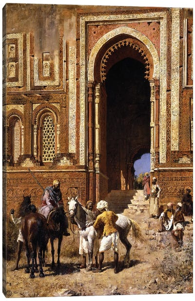 The Gateway of Alah-ou-din, Old Delhi, late 19th century  Canvas Art Print