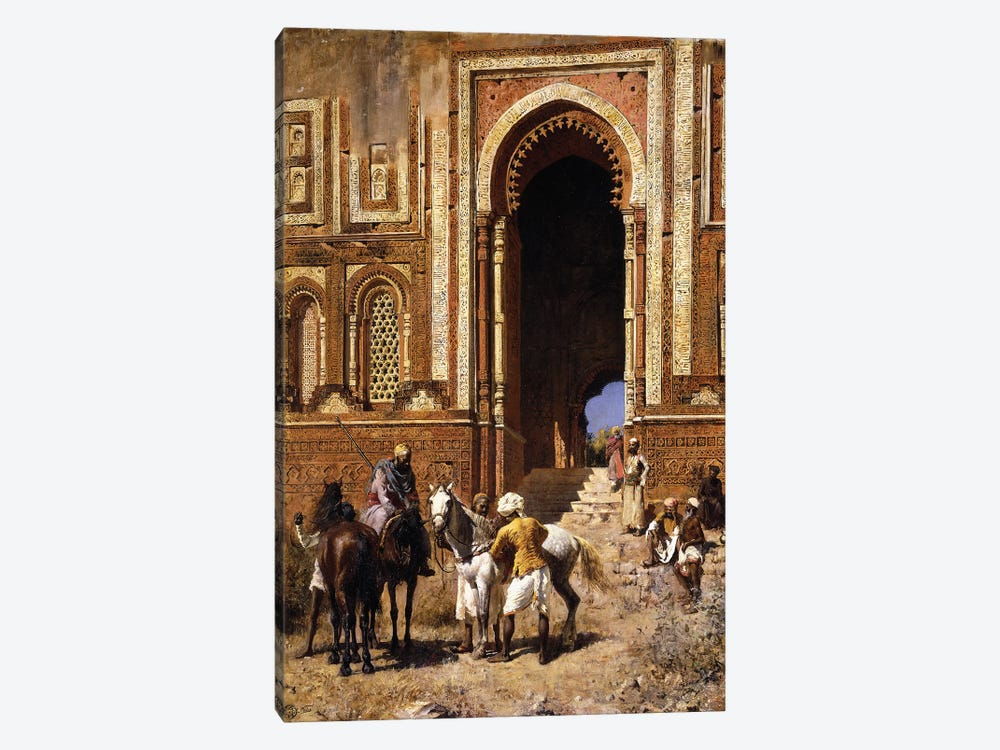 The Gateway of Alah-ou-din, Old Delhi, late 19th century  by Edwin Lord Weeks 1-piece Canvas Art Print