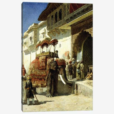 The Rajah's Favourite, 1884-89  Canvas Print #BMN10158} by Edwin Lord Weeks Art Print
