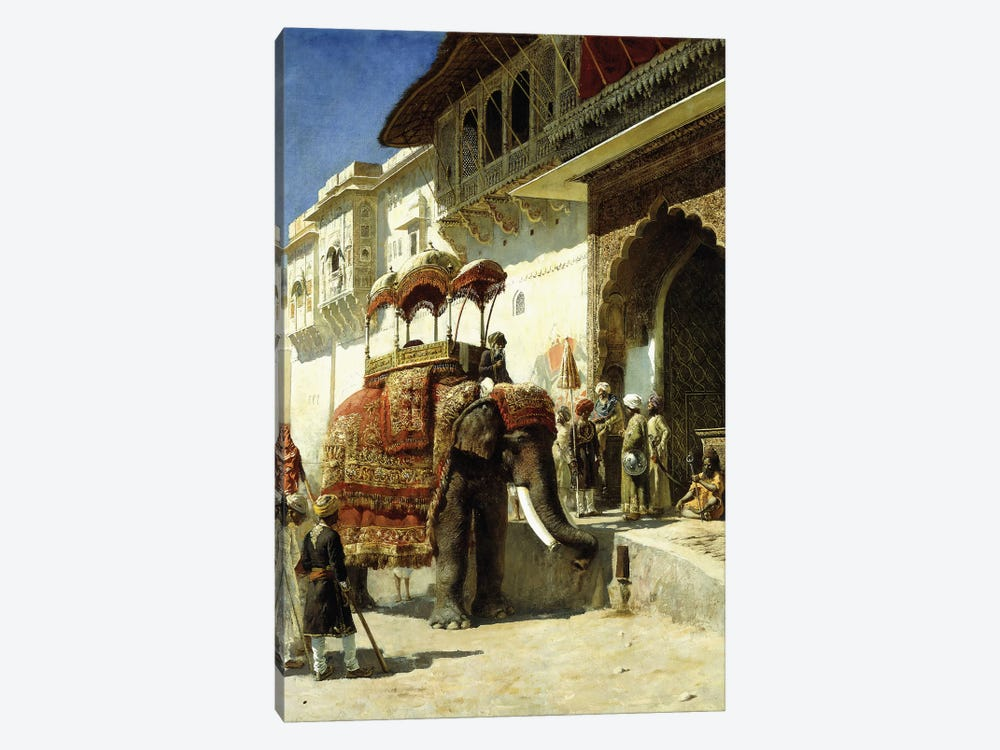 The Rajah's Favourite, 1884-89  by Edwin Lord Weeks 1-piece Canvas Wall Art