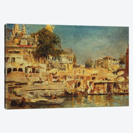 View of the Ghats at Benares, 1873  Canvas Print #BMN10159} by Edwin Lord Weeks Art Print