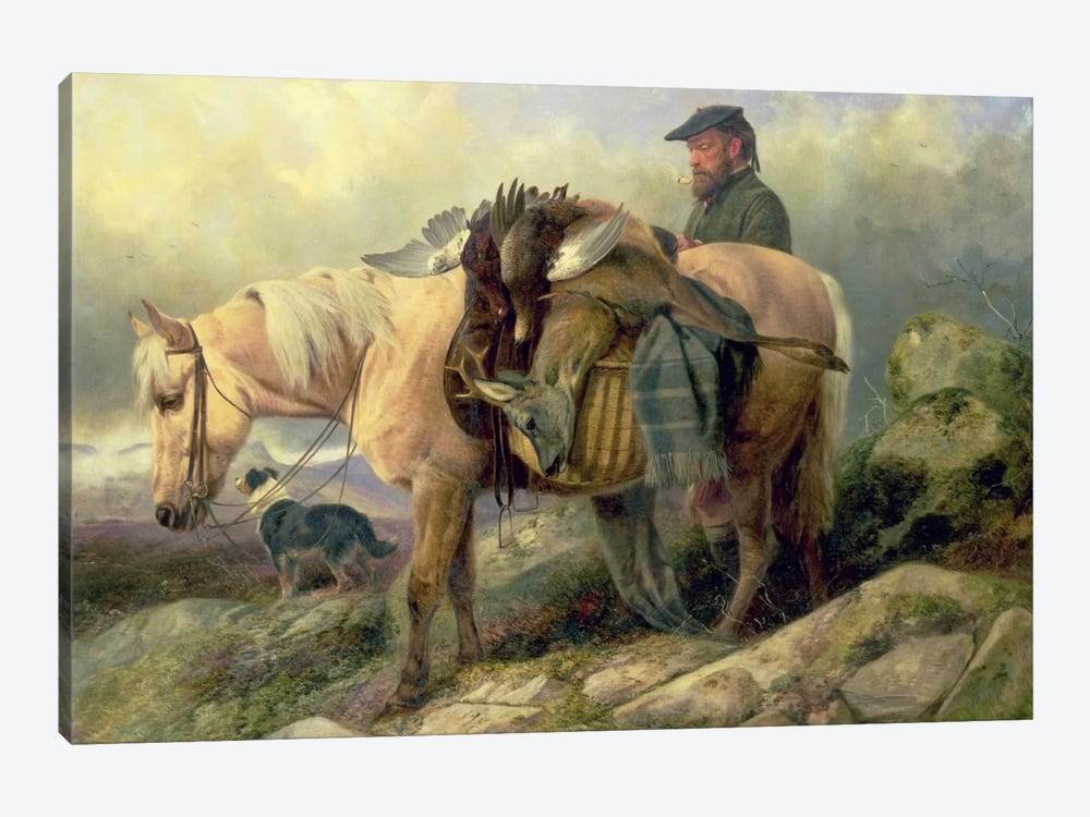 Returning from the Hill, 1868 by Richard Ansdell 1-piece Canvas Art Print