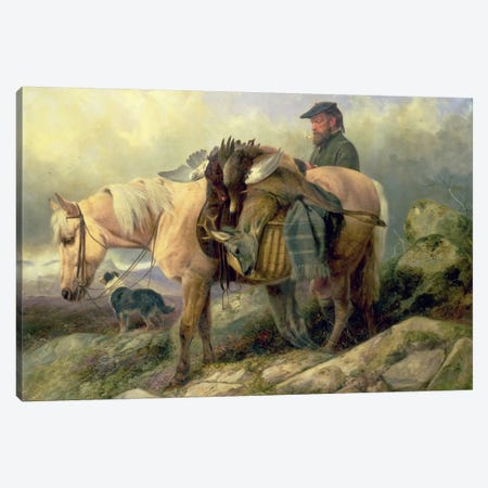 Returning from the Hill, 1868 Canvas Print #BMN1015} by Richard Ansdell Canvas Artwork