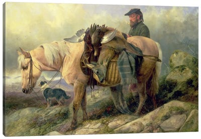 Returning from the Hill, 1868 Canvas Art Print