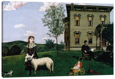 Mourning Picture, 1890  Canvas Art Print