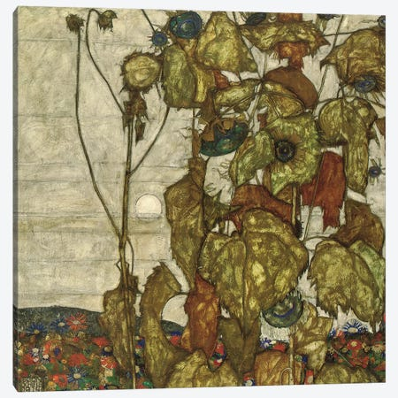 Autumn Sun  Canvas Print #BMN10162} by Egon Schiele Canvas Wall Art