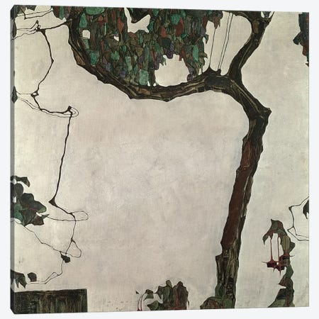 Autumn Tree, 1909 Canvas Print #BMN10163} by Egon Schiele Canvas Art