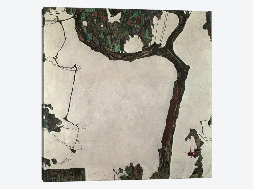 Autumn Tree, 1909 by Egon Schiele 1-piece Canvas Wall Art