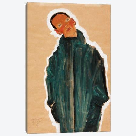 Boy in Green Coat, 1910  Canvas Print #BMN10164} by Egon Schiele Art Print