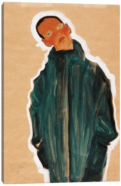 Boy in Green Coat, 1910  Canvas Art Print