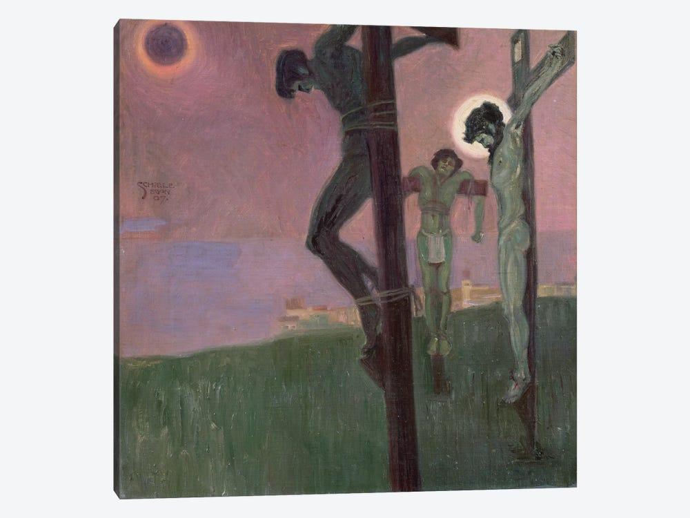 Crucifixion with darkened sun by Egon Schiele 1-piece Canvas Art