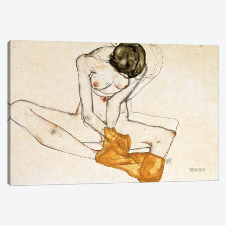 Female Nude, 1901-1918  Canvas Print #BMN10167} by Egon Schiele Canvas Art Print