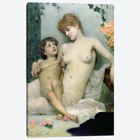 Love's First Lesson, 1885  Canvas Print #BMN1016} by Solomon Joseph Solomon Canvas Wall Art