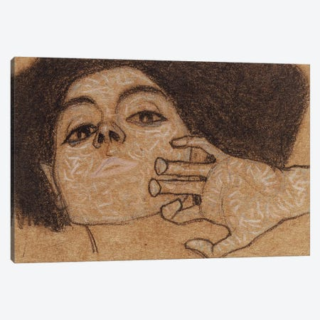 Head of a woman, c.1907-8  Canvas Print #BMN10170} by Egon Schiele Canvas Art Print