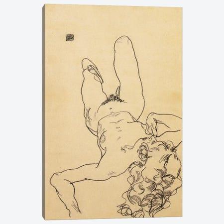 Kneeling female nude, 1917  Canvas Print #BMN10172} by Egon Schiele Art Print