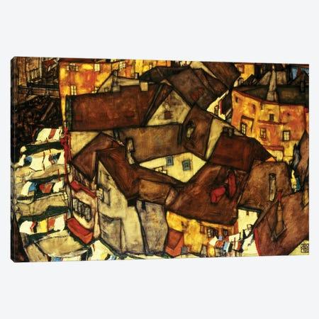 Krumau Town Cresent, 1915  Canvas Print #BMN10173} by Egon Schiele Canvas Print