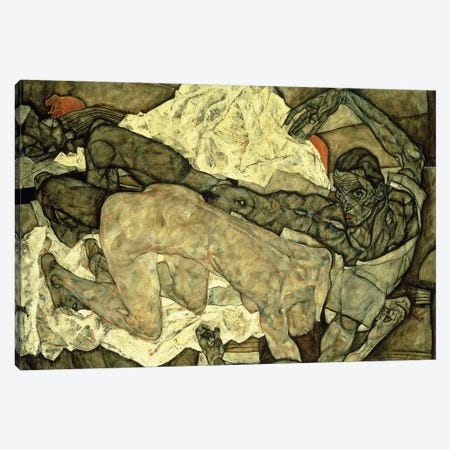 Lovers ; Liebespaar , 1914  Canvas Print #BMN10174} by Egon Schiele Canvas Art