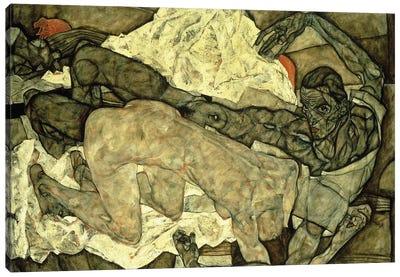Lovers ; Liebespaar , 1914  Canvas Art Print