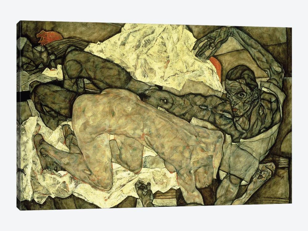 Lovers ; Liebespaar , 1914  by Egon Schiele 1-piece Canvas Wall Art