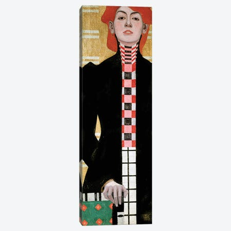 Portrait of a Woman, 1909  Canvas Print #BMN10176} by Egon Schiele Canvas Wall Art