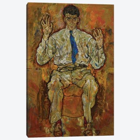 Portrait of Paris von Gütersloh, 1918  Canvas Print #BMN10178} by Egon Schiele Art Print