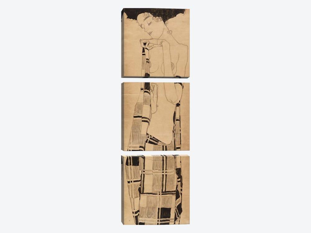 Standing Girl, c.1908-09  by Egon Schiele 3-piece Canvas Art Print