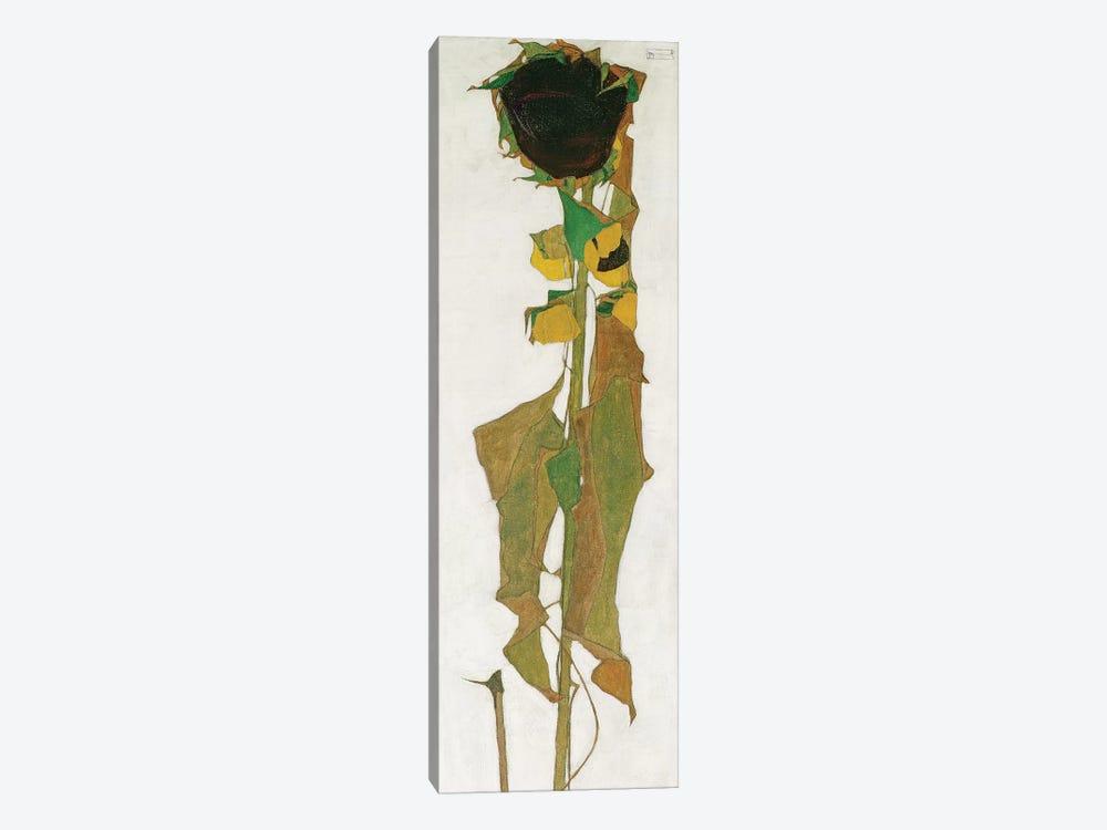 Sunflower by Egon Schiele 1-piece Canvas Print