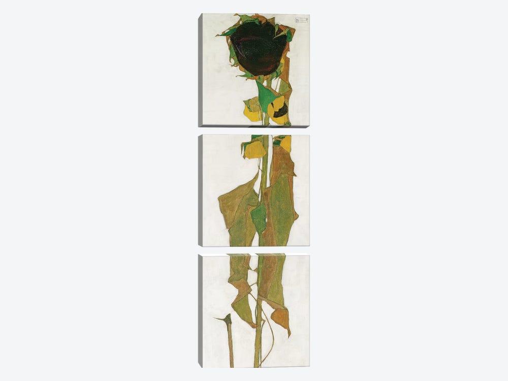 Sunflower by Egon Schiele 3-piece Art Print